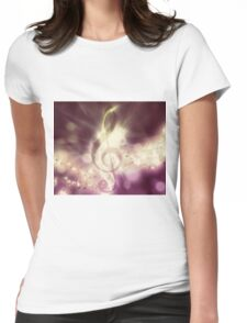 Glowing music background 3 Womens Fitted T-Shirt