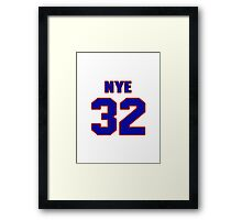 National baseball player Rich Nye jersey 32 Framed Print