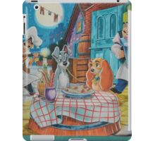 Disney Lady and the Tramp Pasta Dinner iPad Case/Skin