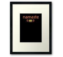 Orange Namaste Framed Print
