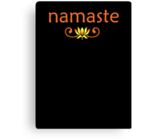 Orange Namaste Canvas Print