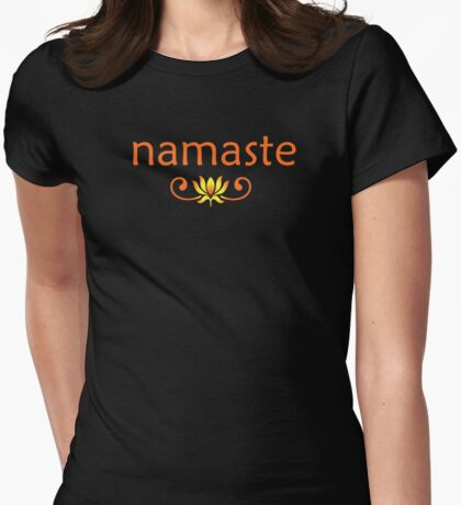 Orange Namaste Womens Fitted T-Shirt