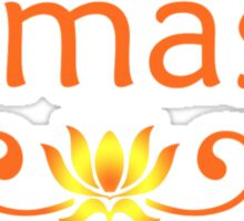 Orange Namaste Sticker