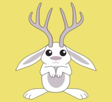 White Jackalope One Piece - Short Sleeve