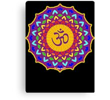 7th Chakra Mandala Yoga Om Canvas Print