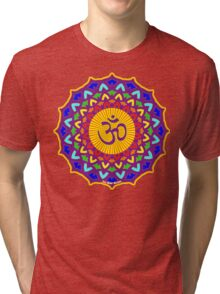 7th Chakra Mandala Yoga Om Tri-blend T-Shirt