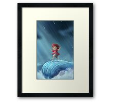 Ponyo Running on a Wave Framed Print