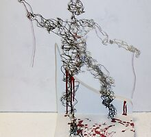 Reaching Out (Wire Sculpture)- by Robert Dye
