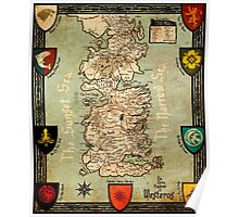 Westeros Map - Game of Thrones Poster