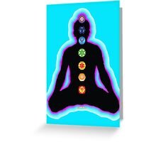 Chakras Meditation Greeting Card