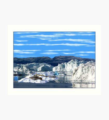 832-Ice World Art Print