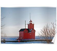 Michigan Lighthouse Poster