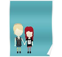 She's Rather Beautiful - Naomi and Emily Stylized Print Poster