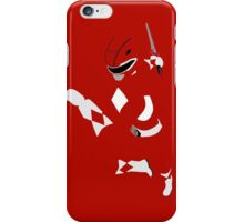 Mighty Morphin Power Rangers Red Ranger iPhone Case/Skin
