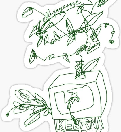 'Ikebana T.V.' Sticker