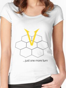 Civ V - One more Turn (light) Women's Fitted Scoop T-Shirt