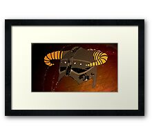 Iron Helmet Framed Print