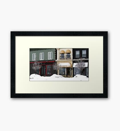 small town charm Framed Print