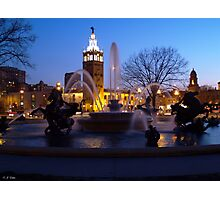Evening Capture J.C. Nichols Fountain Photographic Print