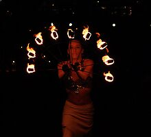 FIRE TWIRLER by Cheryl Hall
