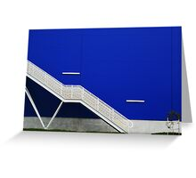 Blue Wall with Stairs Greeting Card