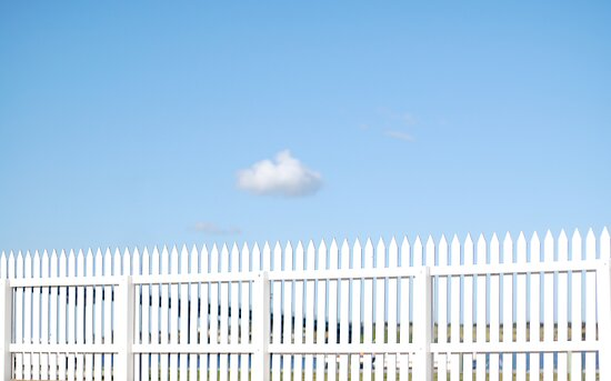 One cloud, white picket fence by Janet Leadbeater