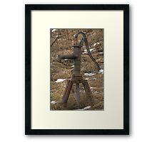 Old Water-pump Framed Print