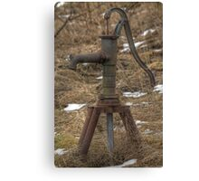Old Water-pump Canvas Print