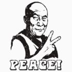 Dalai Lama Peace Sign T-Shirt by mindofpeace