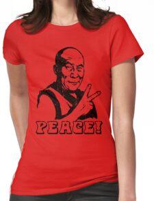 Dalai Lama Peace Sign T-Shirt Womens Fitted T-Shirt