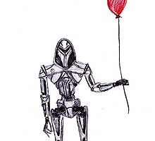Battlestar Galactica Cylon Centurion with Red Balloon by 2dollarsidekick