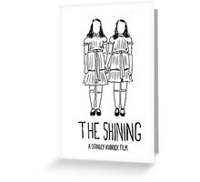 Stanley Kubrick's Twins Greeting Card