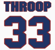 National baseball player George Throop jersey 33 by imsport