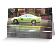 Transportation in NewYork City Greeting Card