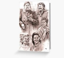 Corrie Babes of days gone by Greeting Card