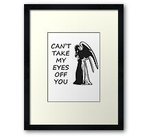 Can't Take My Eyes Off You - Doctor Who Framed Print