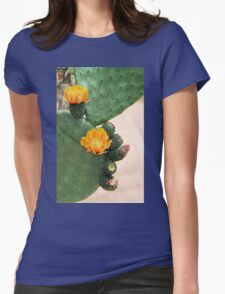 Prickly Pear Orange Bloom Womens Fitted T-Shirt