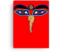 Buddha Eyes Symbol Canvas Print