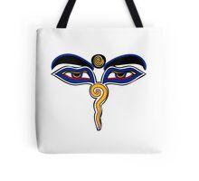 Buddha Eyes Symbol Tote Bag