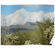 Clouds in the Desert Poster