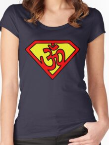 Super Om Symbol Women's Fitted Scoop T-Shirt