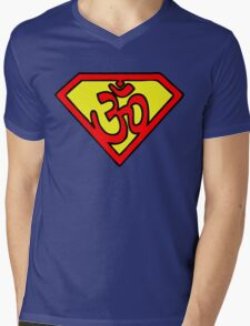 Super Om Symbol Mens V-Neck T-Shirt
