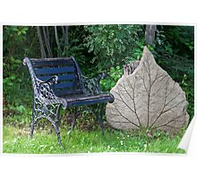 Seating By One Big Leaf  Poster