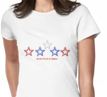 United States of American  Stars Womens Fitted T-Shirt