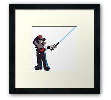 Jedi Mario T-Shirt Framed Print