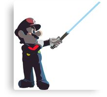 Jedi Mario T-Shirt Canvas Print