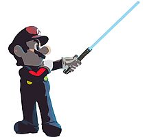 Jedi Mario T-Shirt Photographic Print