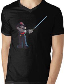 Jedi Mario T-Shirt Mens V-Neck T-Shirt