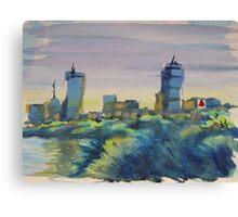 """BOSTON SKYLINE"" Canvas Print"