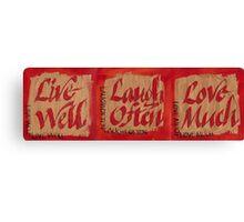 Live, Love, Laugh Canvas Print
